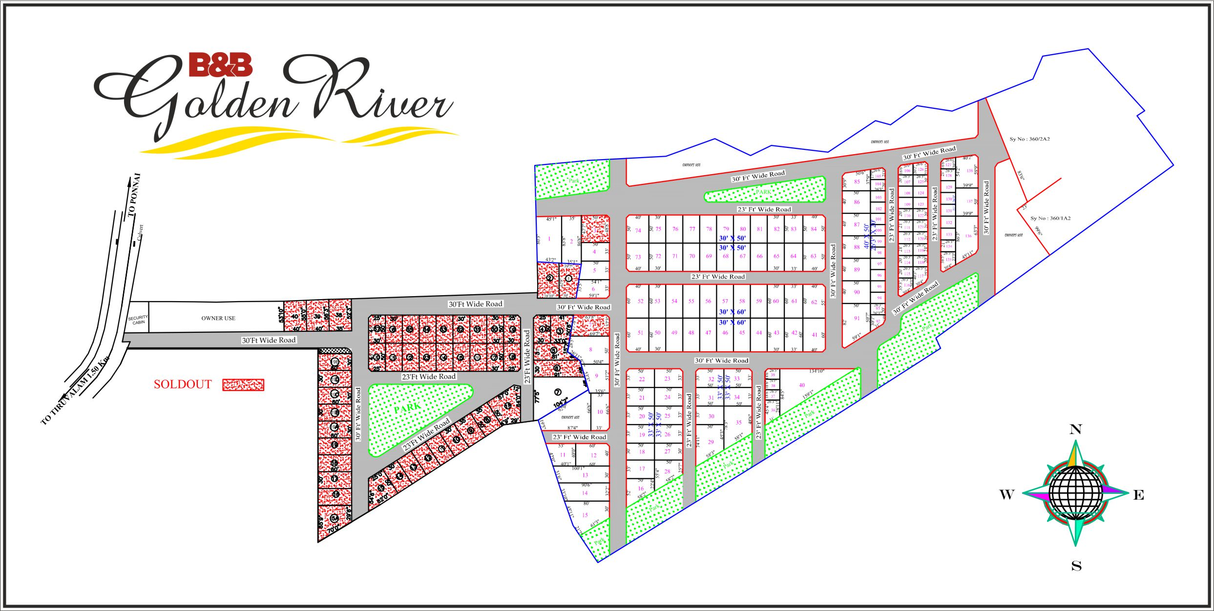 Golden River Layout